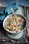 Artichoke risotto with bacon, salted lemons and cinnamon