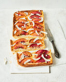 Tart with nectarines