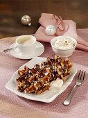 Belgian gingerbread waffles