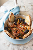 Brodetto fanese (fish and seafood soup, Italy)