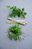 Lemon balm, lemongrass and lemon verbena (verbena)