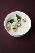 Celery soup with sage and Roquefort