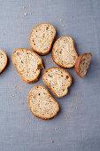 Sliced walnut and sage bread