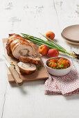 Roast turkey with apricot chutney