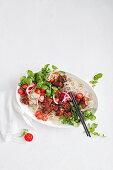 Shaking Beef Noodle Salad