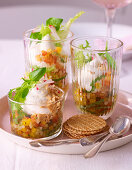 Spring trifle with peppers and basil