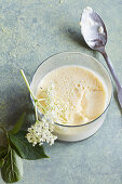 Elderflower panna cotta