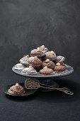 Chocolate and hazelnut macaroons