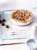 Almond cream and cherry tart