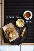 Treacle and oat soda bread