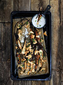 Oven-roasted parsnips and porcini mushrooms with truffle Skyr
