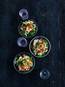 Pomelo salad with tiger prawns