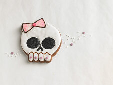 A skull biscuit
