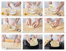 Preparing tortilla