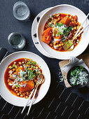 Chickpea and preserved lemon tagine with sambal