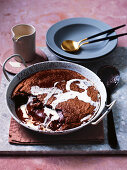 Dark chocolate self-saucing pudding