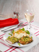 Courgette veal escalope with mashed potatoes