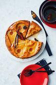 Pear and marzipan budino (Italy)