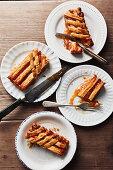 Apricot jam crostata