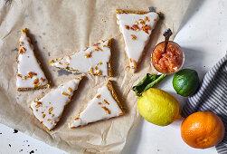 Citrus bites with sugar glace