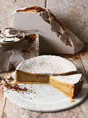 Coffee ricotta cake