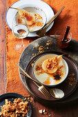 Lemon myrtle and yoghurt panna cotta (Island)