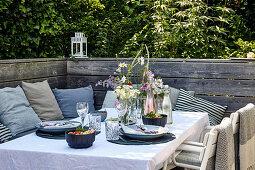 Summer table on the terrace