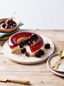 Cherry and lemon jelly cake
