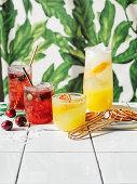 Campari, Pimm's and rosé spritz, Orange, Cointreau and moscato spritz