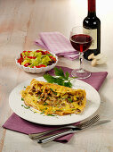 Swabian spaetzle omelette with mushrooms
