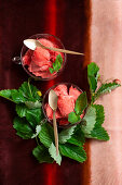 Wild strawberry sorbet
