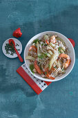 Prawn and fennel pasta