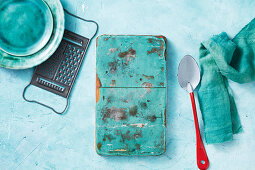 Turquoise kitchen utensils
