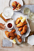 Chorizo and olive croquettes