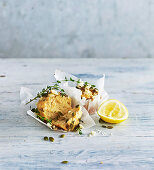 Lemon, thyme and feta muffins