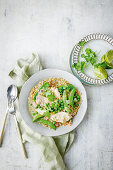 Speedy three pea green chicken curry