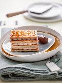 Chestnut cream millefeuille