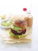 Beetroot burger