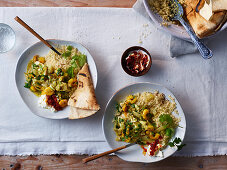 Moroccan fish tagine with cod, prawns and fennel