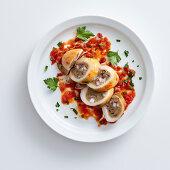 Seppie farcite alla salentina (stuffed squid, Italy)