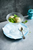 Lime sorbet with Thai basil