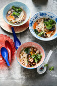 Tom yam hed with lemongrass and galgant (Thailand)