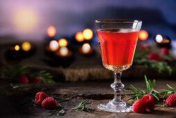 Raspberry and rosemary tea