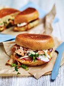 Salmon and Kimchi Brioche Toasties