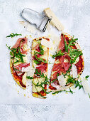 Prosciutto and Parmesan Sandwich Press Pizzas