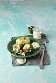 Vegetarian savoy cabbage rice rolls