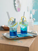 Frozen Blue cocktails (non-alcoholic)