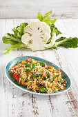 Cauliflower rice with vegetables