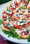 Pizzelle napoletane (fried mini pizzas, Italy)