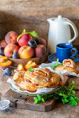 Handpies with peaches and plums